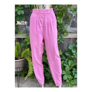 1980s Super High Waist Trousers Tapered Pleats